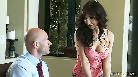 Big tits brunette mom ilf Diana Prince seducing man at dinner table