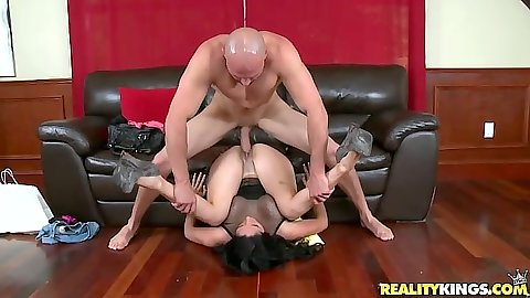 Pile driver with Pamela Foxx enjoying a nice penetration
