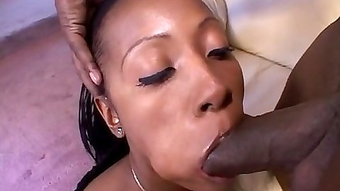 Ebony Cherokee D Ass sucking black cock and big ass doggy style entered