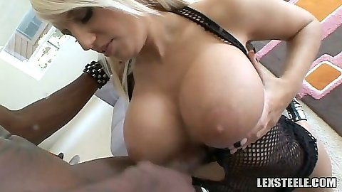Big whtie tits Jacky Joy titty fucking black cock and front sex penetration