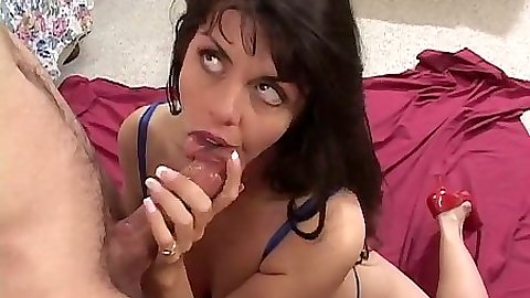 Blowjob from milf Skylar and she works up a a sweat