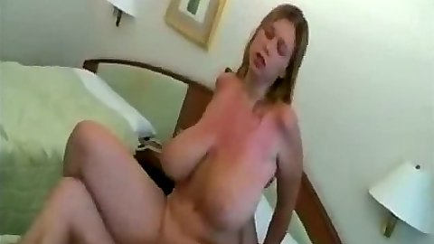 Huge natural tits amateur gf home video reverse cowgirl cock ride