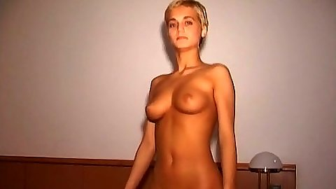 Undressing medium tits amateur on first sex video