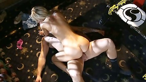 Petite skinny blonde Taylor Tilden cowgirl sex and blowjob shaved pussy