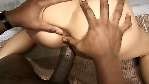 Doggy style big black cock fucking Liza and threesome sex