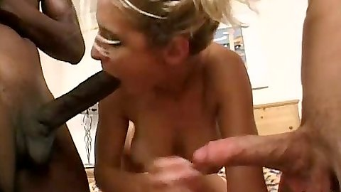 Blowjob with Ryan sucking various cocks at once and licking ass
