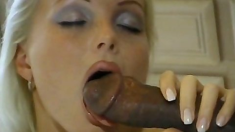 Interracial hot blonde babe Silvia Saint blowjob and hardore fingering