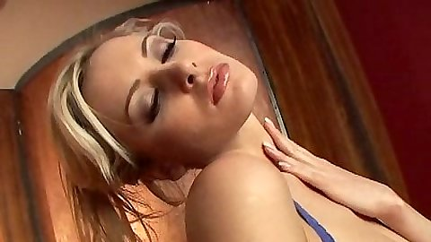 Blonde babe Zdenka Podkapova in her bra and panties moving around sexy