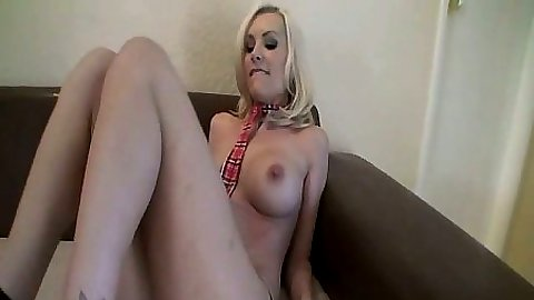 Blonde gf BrandieE getting fingered and sucking penis