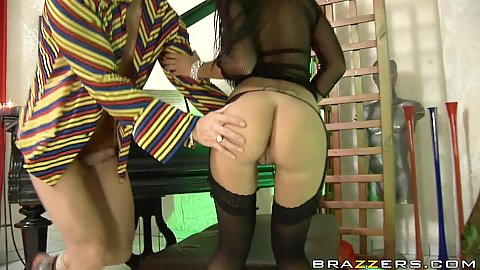 Nice big wet butt asshole gapping while riding cock