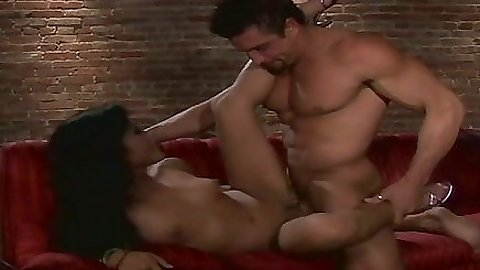 Front penetration with asian Kaylani Lei and cowgirl cock ride