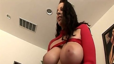 Big tits Gianna Michaels group bang bang blowjob and licking those balls