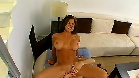Reverse cowgirl sex with bsty Hunter Bryce and close up shaved pussy fuck