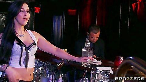 Valerie Kay latina slut going down to suck dick