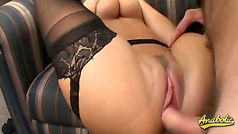 Raised legs sex with Avy Scott getting pounded