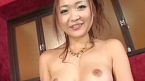 Asian with nice medium tits and hairy pussy playing