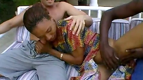 Ebony Michelle gets her dress rolled up and sits on dick