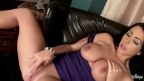 Masturbation with Nina Leigh with her dressed rolled up