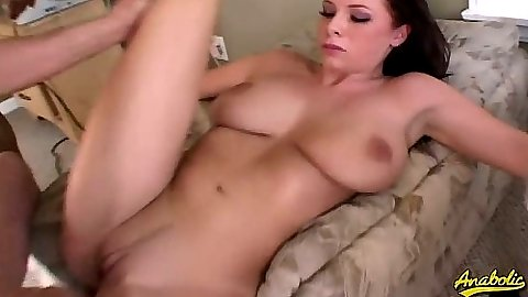 Big tits Gianna spreads legs for cock and doggy style thrusting