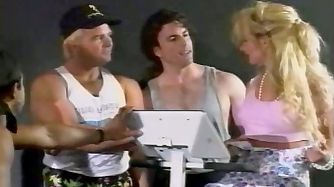 Vintage group fuck with Trixie Kelly on trampoline