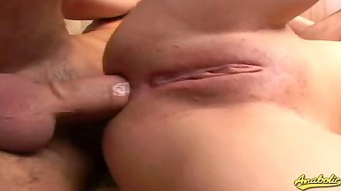 Close up anal sex with smooth shaved pussy Jamie Elle with ass spreading