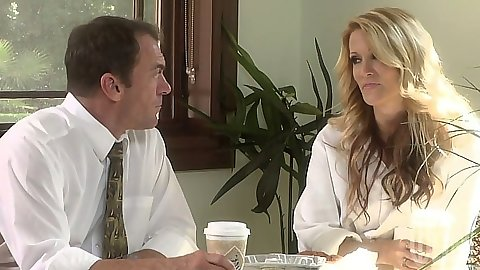 Office babe jessica drake having a chat