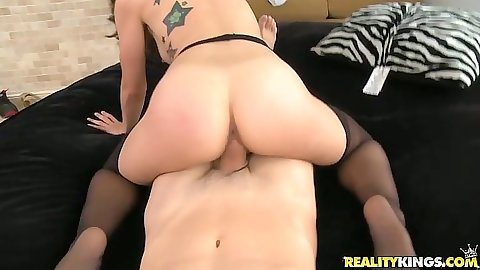 Reverse cowgirl nice ass sex with latina Alexa Rydell and doggy fuck