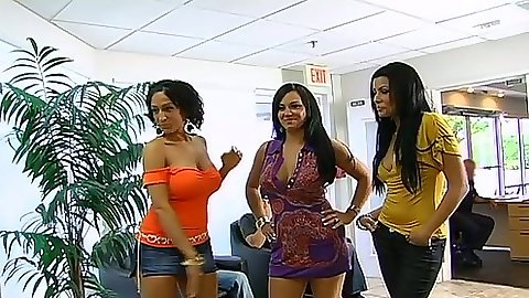 Sexy latina babes Mariah Milano and Ricki White with Giselle Humes