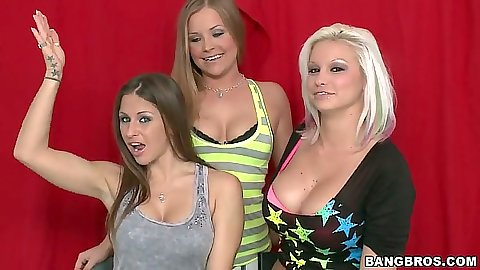 Party of 3 with Deadra Dee and Rachel Roxxx hitting the harbor front outdoors