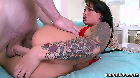 Sideways fucking Christy Mack and her perfect ass
