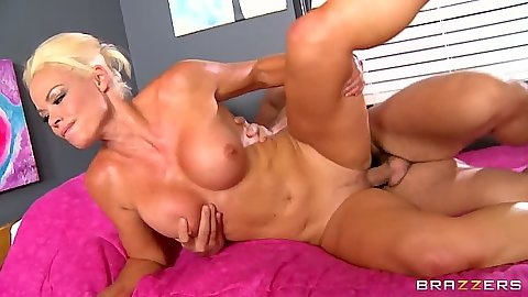 Fucked from the side big tits blonde milf Rhylee Richards