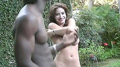 Big black cok and doggy style sex on a car with Angelica