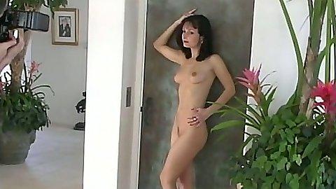 Posing solo Daniella Rush and interracial black cock blowjob