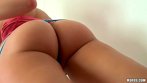 Nice round ass Mia Malkova solo dildo fucking with nice natural tits
