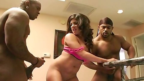 Michelle Avanti prepares for hardcore interracial anal sex