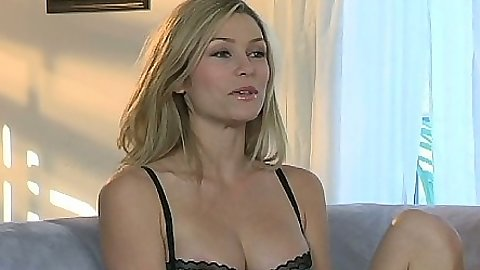 Jelena Jensen and Heather Vandeven in bras and panties interview taking top off