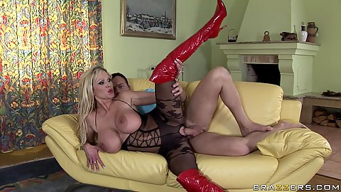 Milf dressed up to fuck meets her sons friend