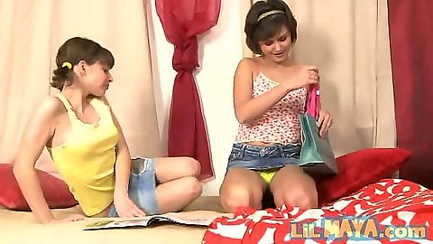 18 year old young Lil Maya with her lesbian girlfriend fingering each other