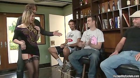 Group gang bang sex with big tits shaved pussy Amber Ashlee