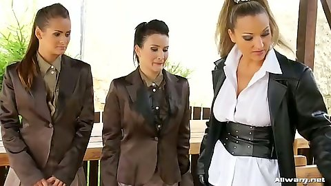 Tatiana Milovani and Gina Killmer looking mean femdom lesbian biatches