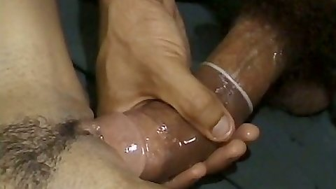 Big dick trimmed pussy close up fuck with Dee and India in interracial