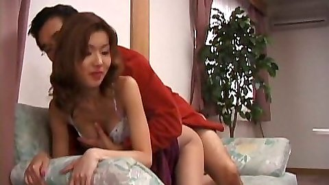 Asian girl in her bra gets fucked from behind