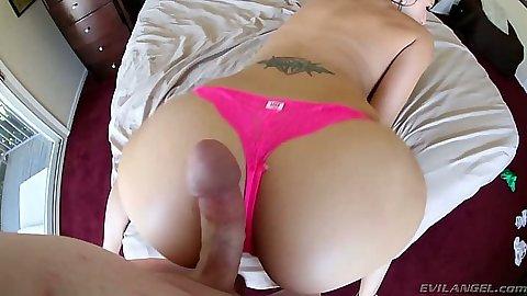 Pov view of ass Katie Jordan and big dick dude