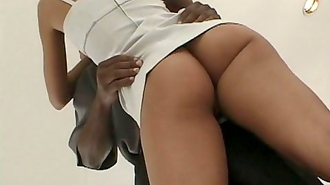 Nice round ass April Flowers in interracial pussy licking fuck