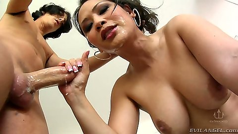 Facial cumshots for asian big tits slut Jessica Bangkok