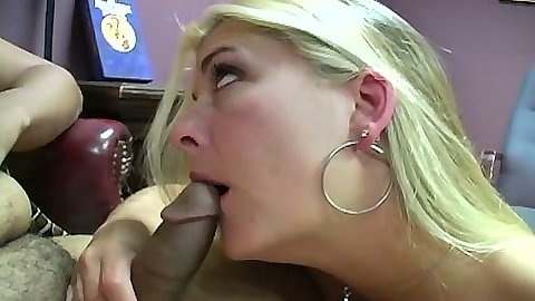 Joclyn Stone interracial blowjob and stroking shaft