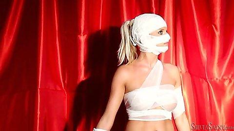 Jessie Hazel and Silvia Saint fetish bondage lesbian pussy licking