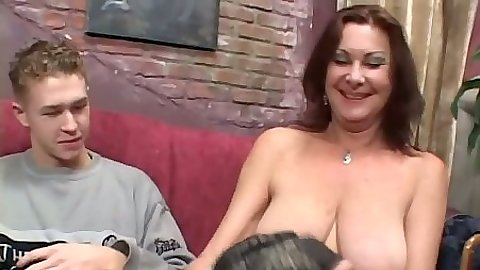 Nice big natural boob reverse cowgirl and doggy style sex milf