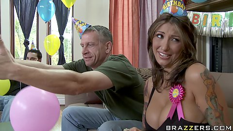 Its horny milf birthday and she makes a dirty wish