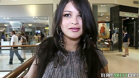 Latina Sadine Godiva in public mall picking out something sexy